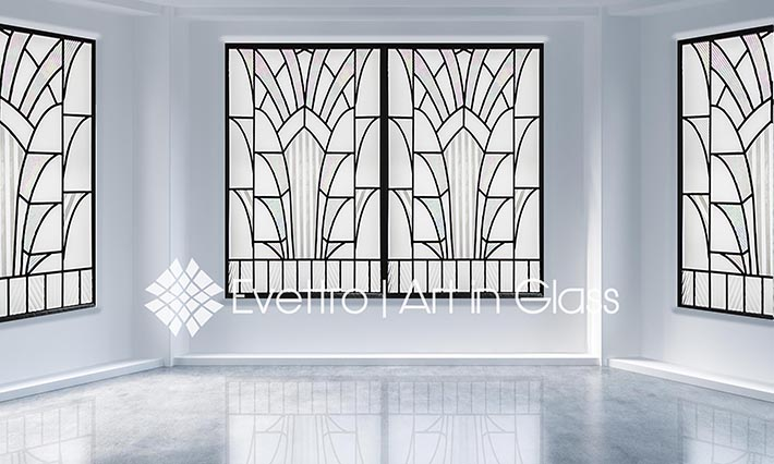 Evettro Art In Glass Clear Amp Opalescent Art Deco Windows