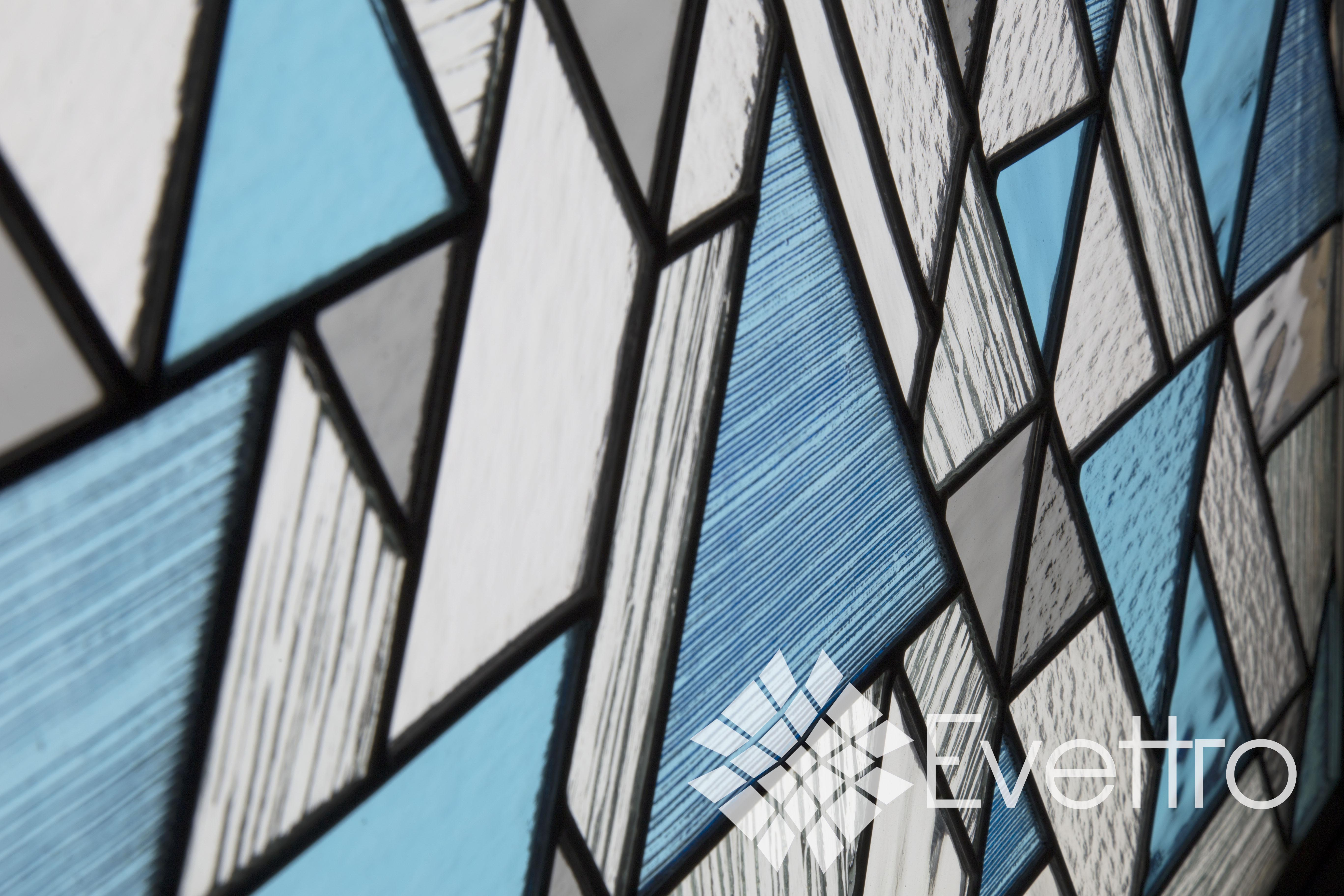 Modern Stained Glass Window Panel
