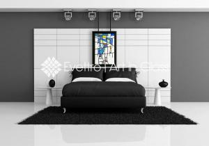 abstract-stained-glass-blue-bleeding-bedroom-inspiration-evettro